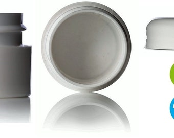 100 1/4 oz White double wall Jar with lids