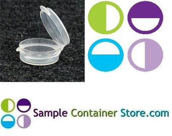 50 - 1/9 ounce Lacons Sample Container Round Hinged-Lid Plastic Medical Container (Autoclavable)