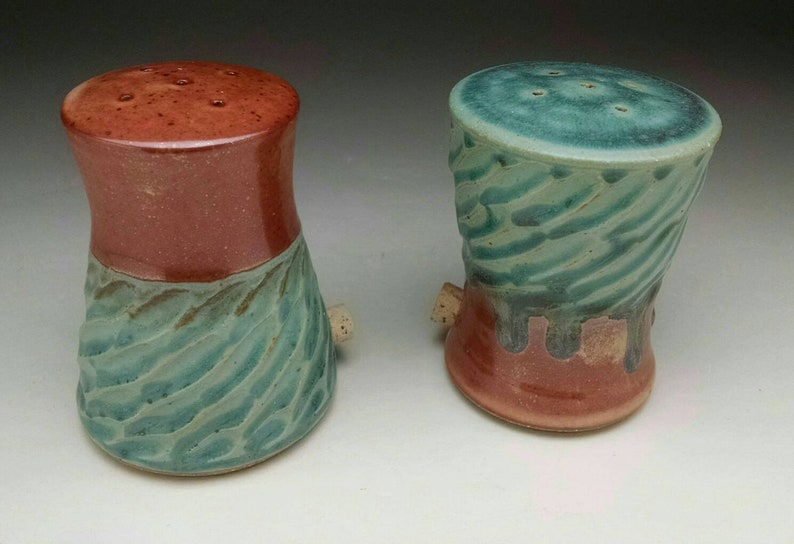 HandMade Contemporary Design Salt and Pepper /& Shakers Made to Order