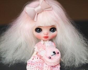 Sarsarblanki Custom Petite Blythe Doll Astilbe - OOAK handmade custom ブライス PBL プチブライス