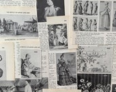 Costume Ephemera Bundle Historical FASHION Vintage Book Page Scrap Clippings Junk Journal Collage Illustrations Text Whimsy Kit III