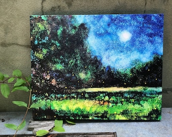 Fireflies : 16 x 20 Inch Stretched Canvas Wrap Print
