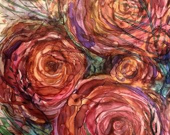 Pink Roses: Fine Art Print
