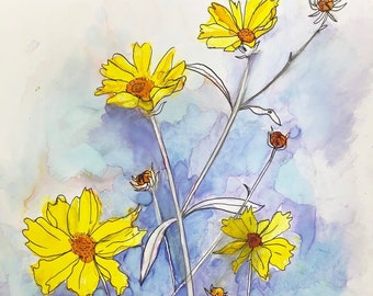 Pretty Little Weeds : Fine Art Greeting Card
