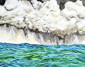 Ocean Rain : Fine Art Print
