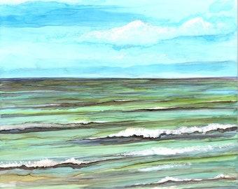 Calm Seas: Fine Art Greeting Card