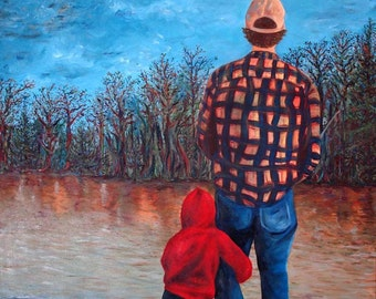 Me and Dad : Fine Art Print