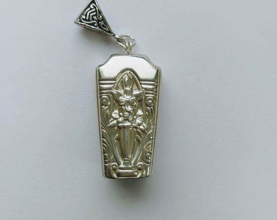 Classic Filigree 1937 upcycled knife handle bell necklace!