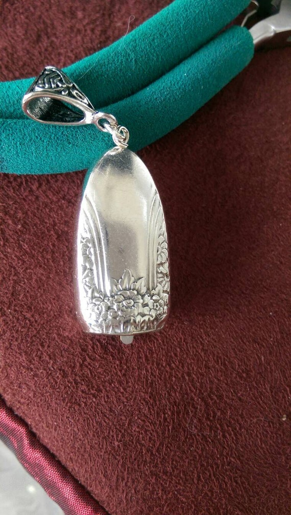 First Love by Rogers upcycled knife handle bell necklace!