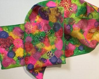 Wild Flower Silk Scarf