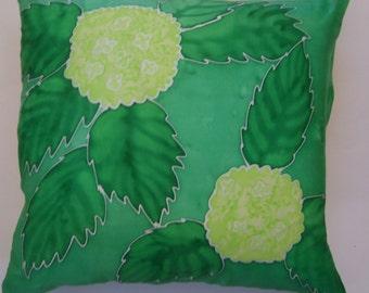 Green Hydrangea Pillow Cover