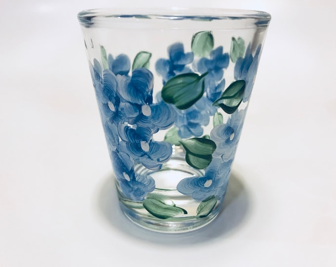 Blue Hydrangea shot glass