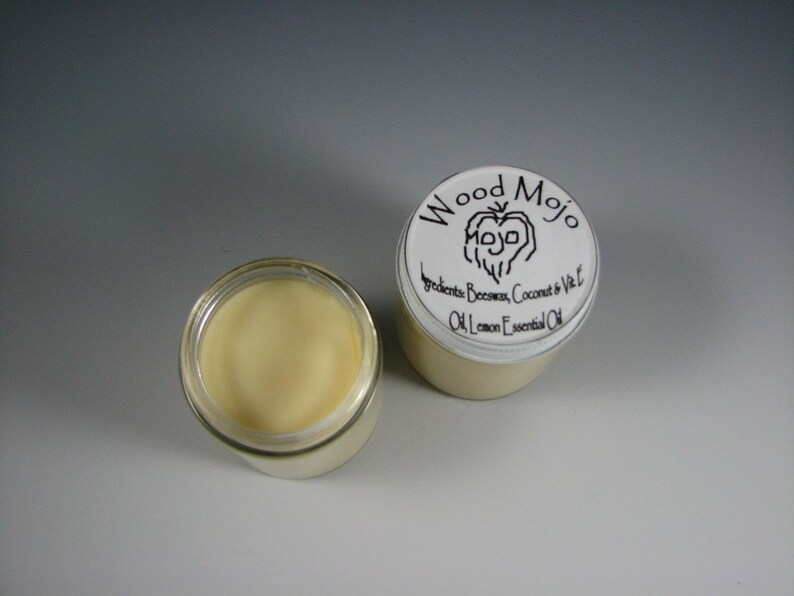 Wood Mojo 4 oz jar  beeswax natural finish for unfinished image 0
