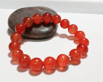Carnelian Bracelet - Chakra Bracelet, Yoga Bracelet, Gemstone, Semi Preciuos Stone Bracelet, Healing Bracelet