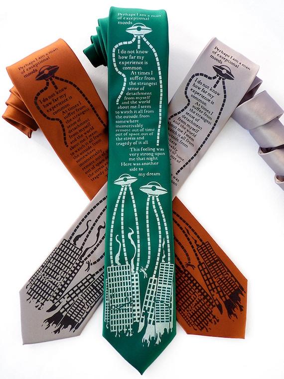 Bookworm Gifts War Of The Worlds Necktie Hg Wells Book Etsy