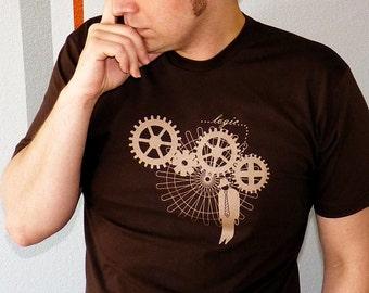 Logic Trap Men's Tshirt, Steampunk Shirt, Programmer T Shirt, Engineer Shirt, Engineer Gift, Geek Tshirt, Steampunk Men Clothing
