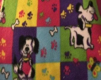 "Puppy Dog Bones Paws Fleece 60"" wide"