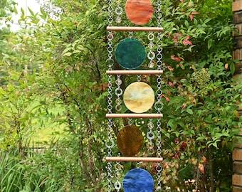 Unique Suncatcher - Kaleidoscope - Glass Circle Suncatcher - OOAK Gift Anniversary, Birthday, Wedding, Housewarming, Planetarium