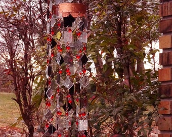 Unique Wind Chimes - Suncatcher - OOAK Gift For Everyone, Anniversary, Birthday, Wedding, Housewarming, Sangue e rose