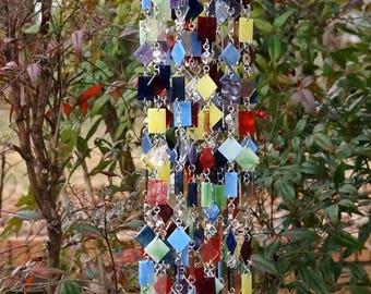 Unique Wind Chimes - Suncatcher - OOAK Gift For Her, Anniversary, Birthday, Wedding, Housewarming, Wisteria Gardens