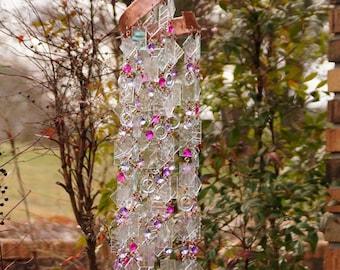 Unique Wind Chime - Suncatcher - OOAK Gift For Her, Anniversary, Birthday, Wedding, Housewarming, Unicorns & Glitter