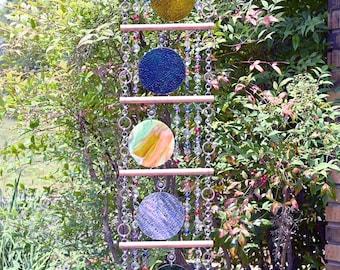 Unique Suncatcher - Kaleidoscope - Glass Circle Suncatcher - OOAK Gift Anniversary, Birthday, Wedding, Housewarming,  Happy Hour