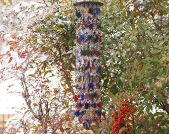 Unique Suncatcher - Glass Wind Chimes - Kaleidoscope - OOAK Gift For Her, Anniversary, Birthday, Wedding, Housewarming, Hope