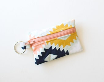 Ear Bud Case, Small Zipper Pouch, Arizona Agave Field