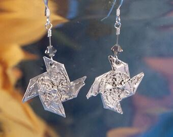 Silver Pinwheel Earrings
