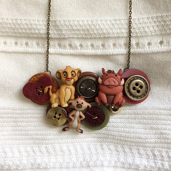 Button Necklace  Lion King image 1
