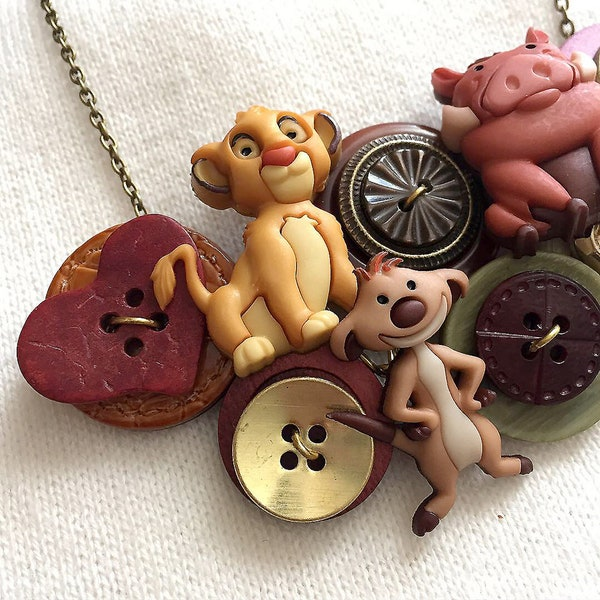 Button Necklace  Lion King image 3