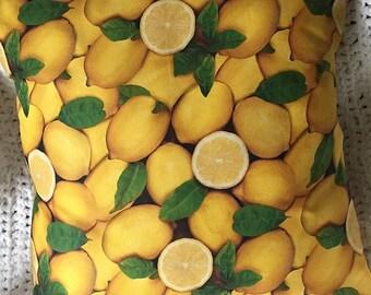 A Lotta Lemons - Throw Pillow Cover 16 x 16