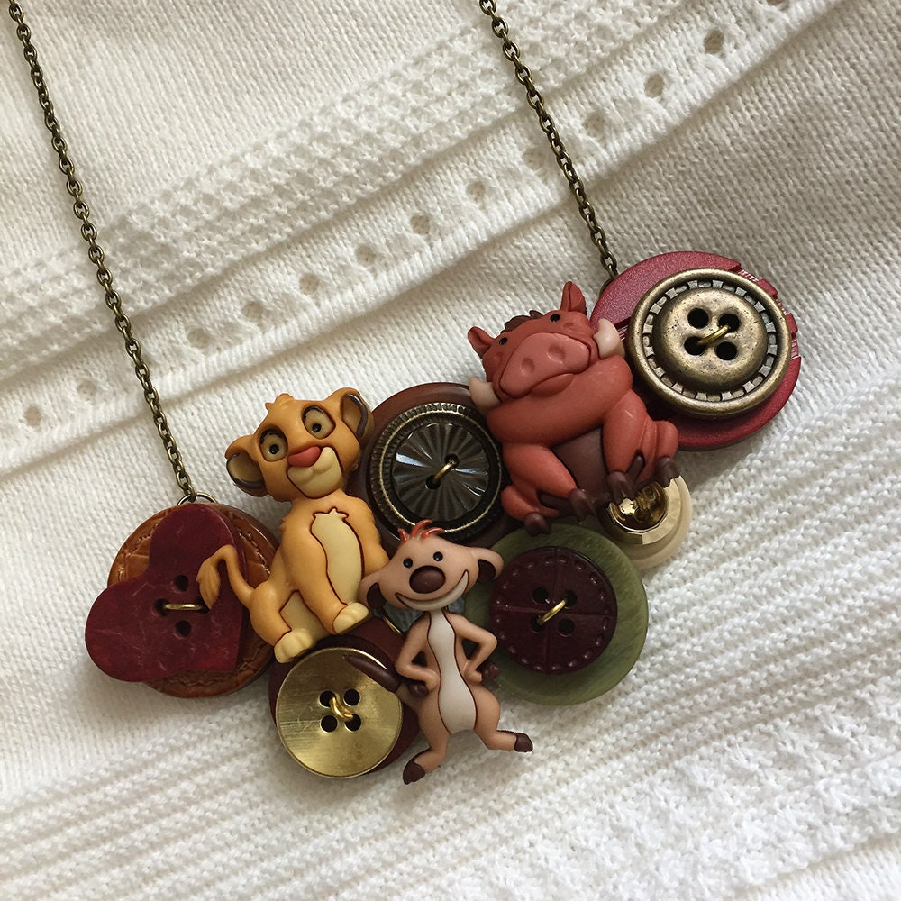 Button Necklace  Lion King image 0
