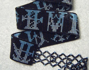 Thirteen Kings - FFXV Armiger-inspired beadwoven wrap bracelet/necklace