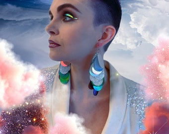 Ombré Sequin Earrings