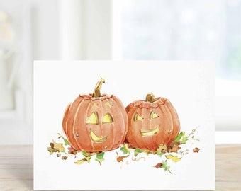 I Love Boo Halloween Card, Pumpkin Love Card, October Birthday, Anniversary Card for wife, husband, girlfriend, boyfriend, A6