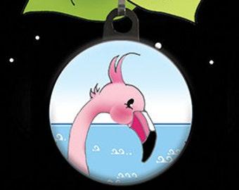 Flamingo Zipper Pull Charm