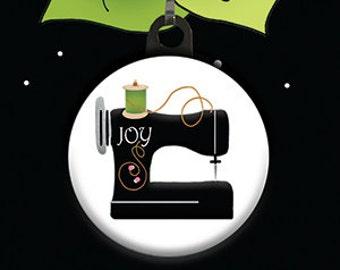Zipper Pull Charm - Sewing Machine