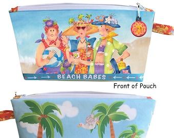 Quick - Preprinted BEACH BABES Zippered Pouch Kit
