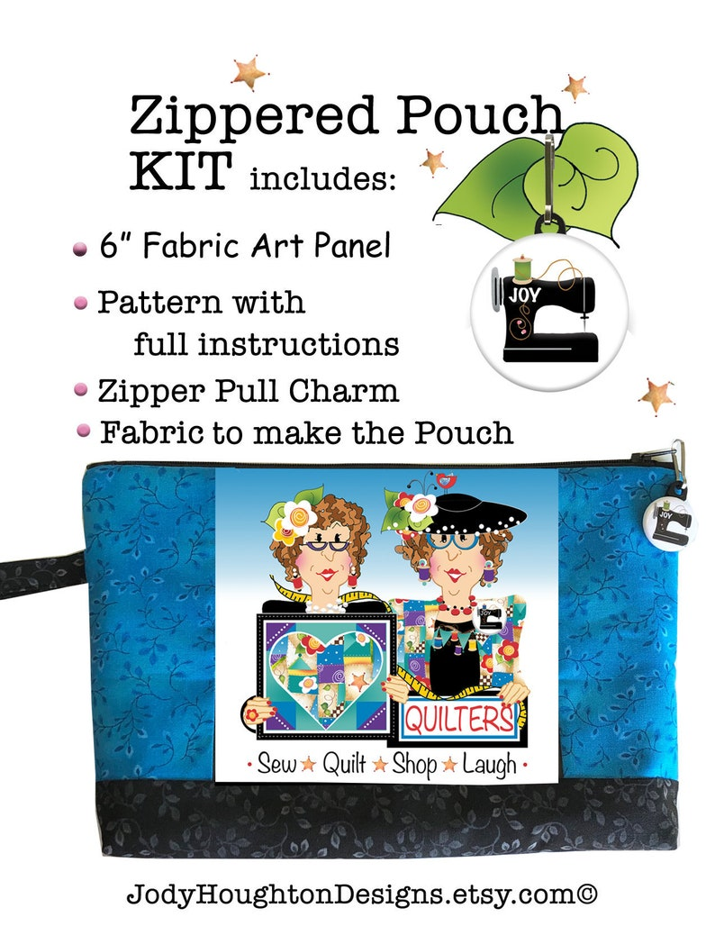Kit  Quilting Girlfriends Zippered Pouch Kit image 0