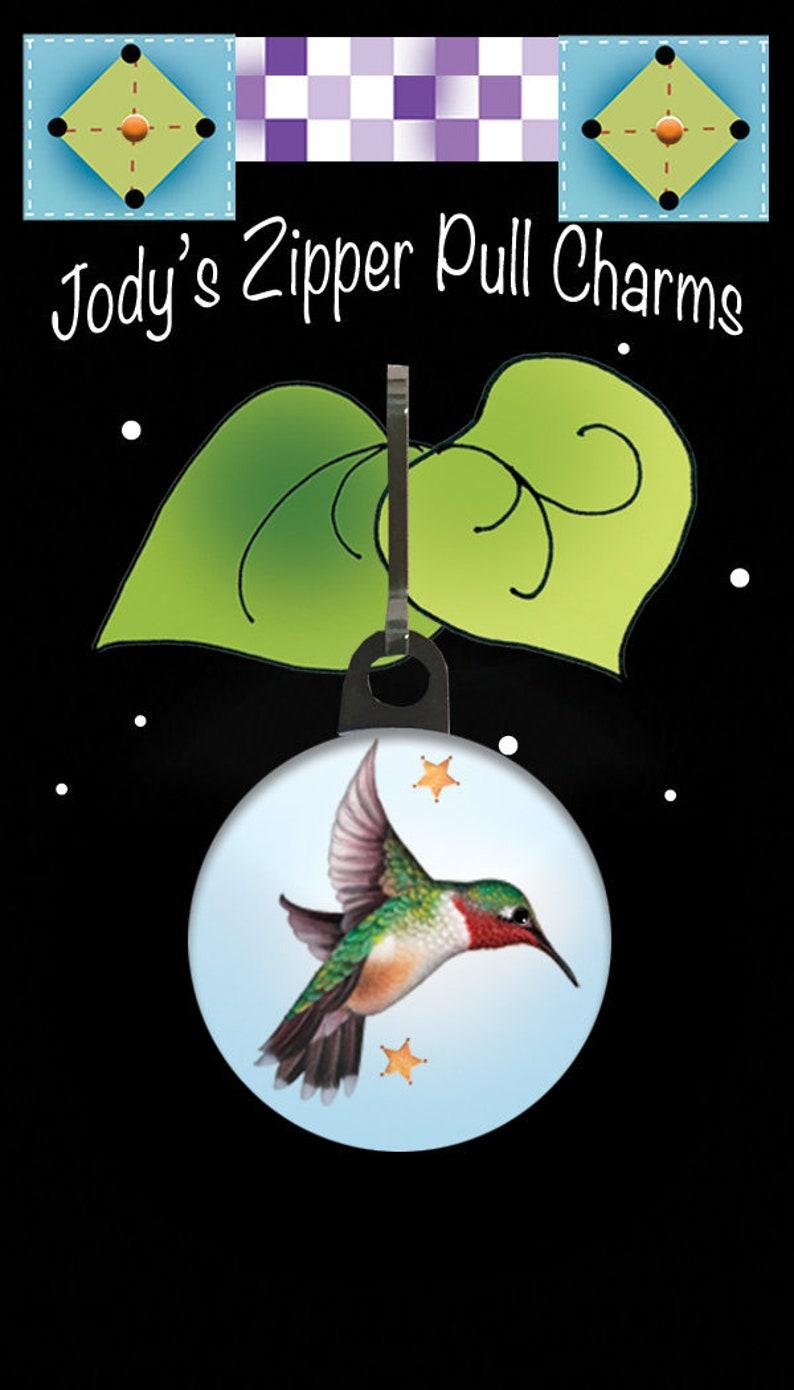 Zipper Charm  Hummingbird image 0