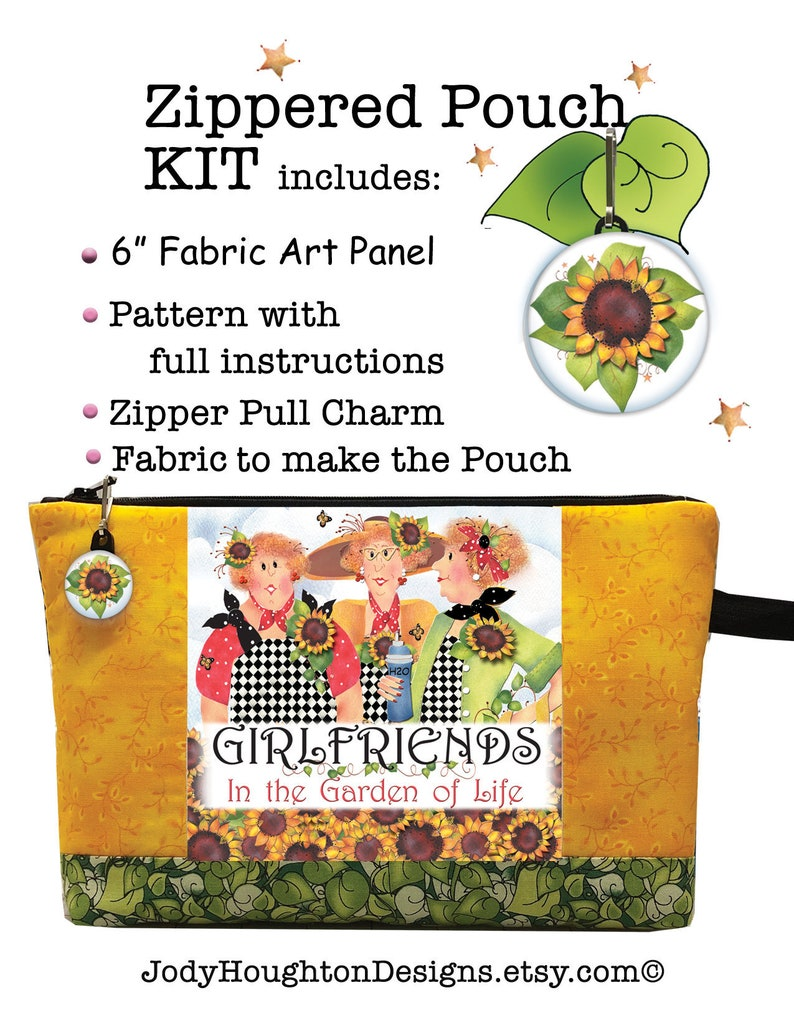Kit  Girlfriends in the Garden of Life Zippered Pouch image 0