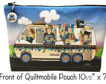 New Fabric Panel for a QUILTMOBILE Zippered Pouch