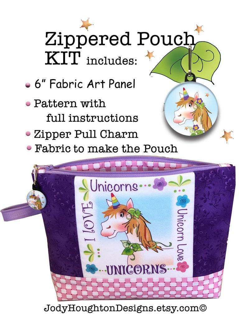 Unicorn Zippered Pouch Kit image 0