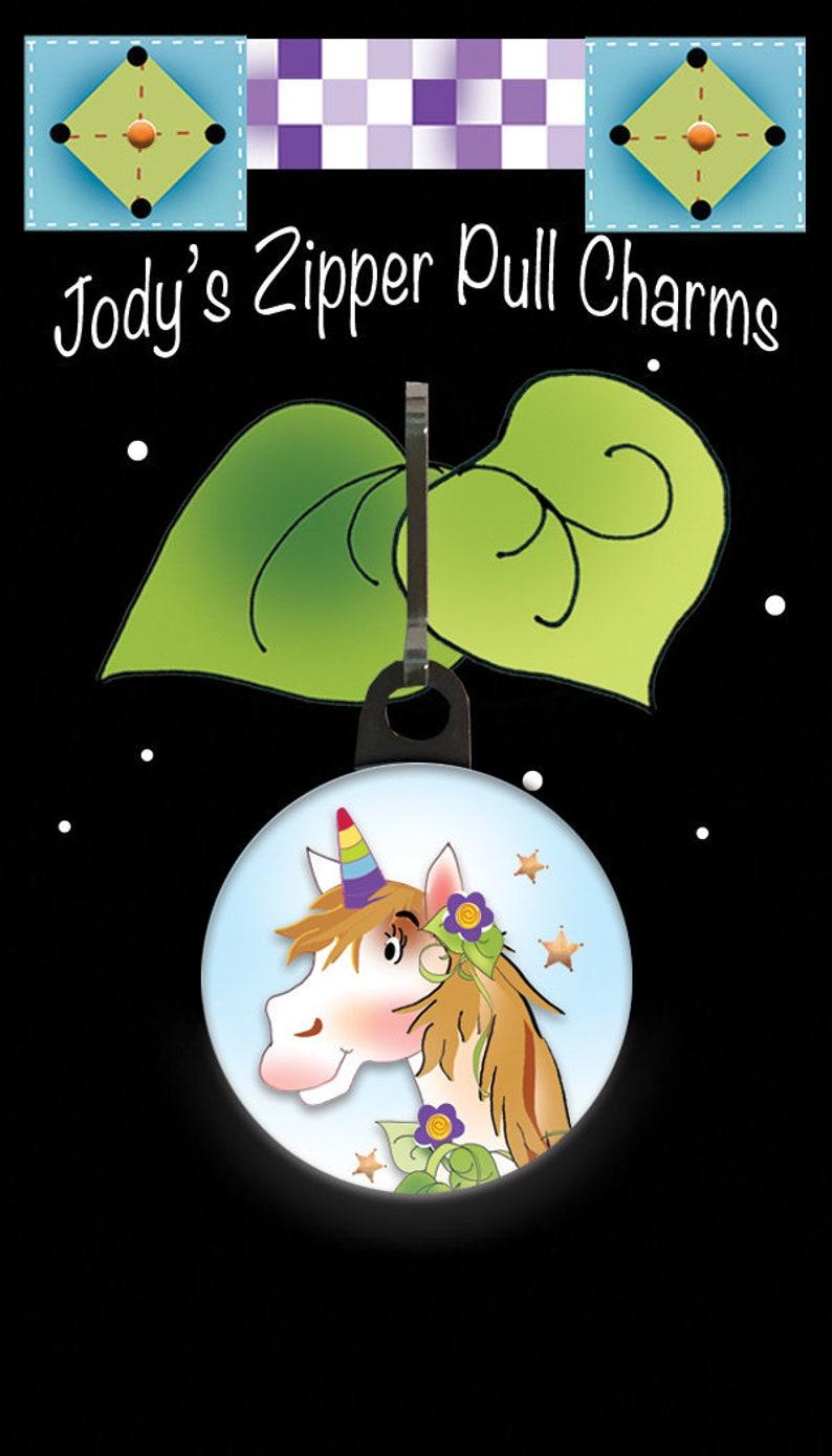 Unicorn Zipper Charm image 0