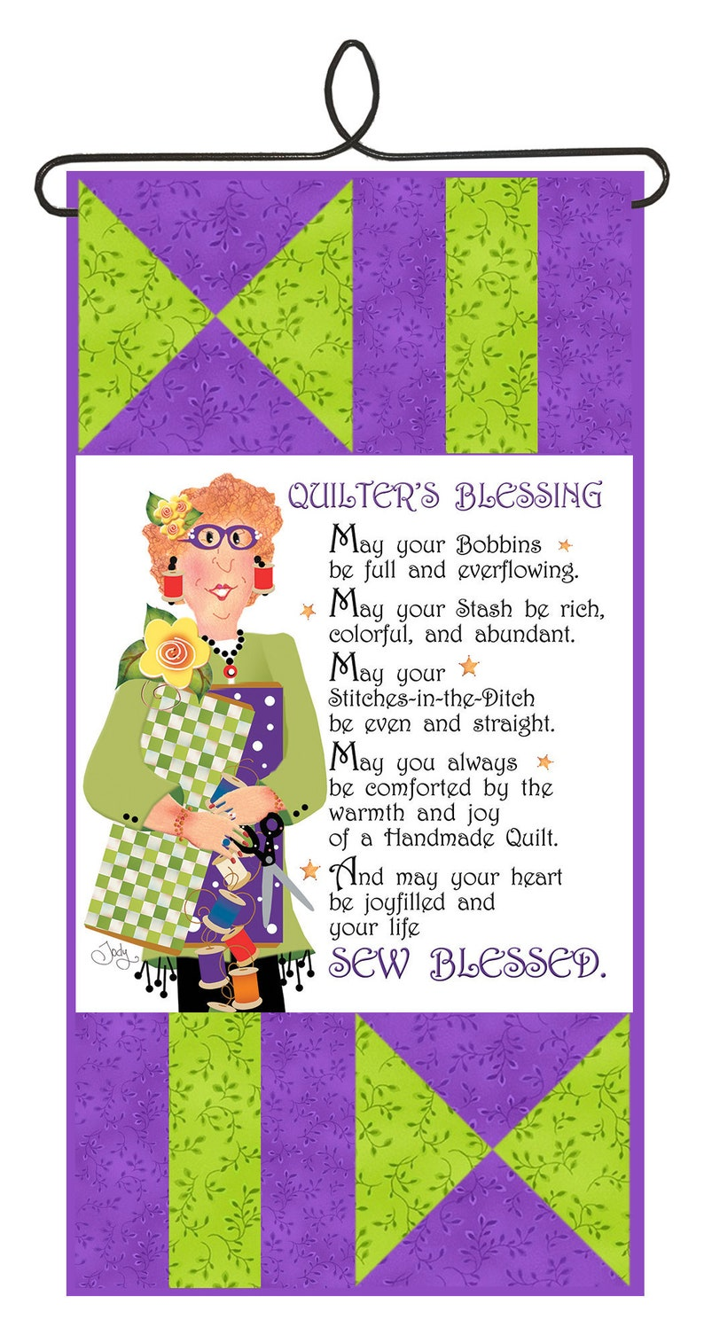 New Kit  Quilter's Blessing Wall Hanging with Wire Hanger image 0