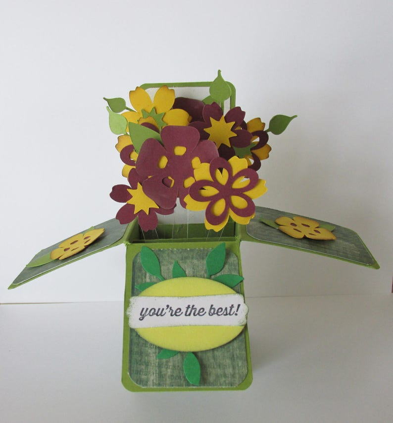 You/'re the Best Greeting Card In A Box Pop Up Card