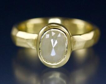 1.36 carat Creamy Rose Cut Diamond Ring