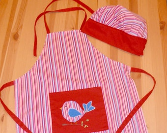 Australian handmade Candy striper apron red and white stripes with bows great for kitchen teas bridal showers and parties cotton fabric