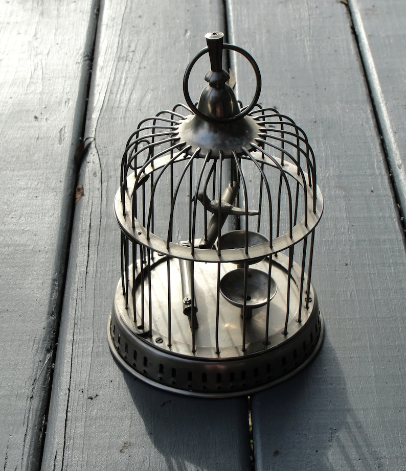 Mid Century Birdcage Decorative Bird Cage Brass Cottage Etsy